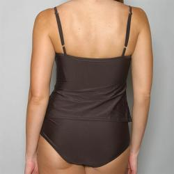 Island World Apparel Women's One-piece Dark Brown Swimsuit - Thumbnail 2