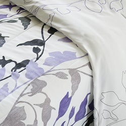 Grace Purple 3-Piece King-size Comforter Set - Thumbnail 2