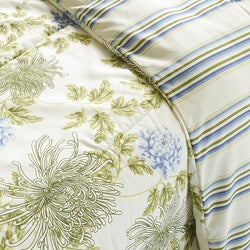 Water Flower Ivory Full/ Queen-size 3-piece Comforter Set - Thumbnail 2