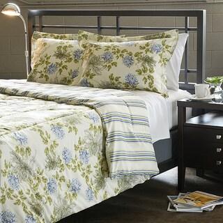 Water Flower Ivory 2-piece Twin-size Comforter Set
