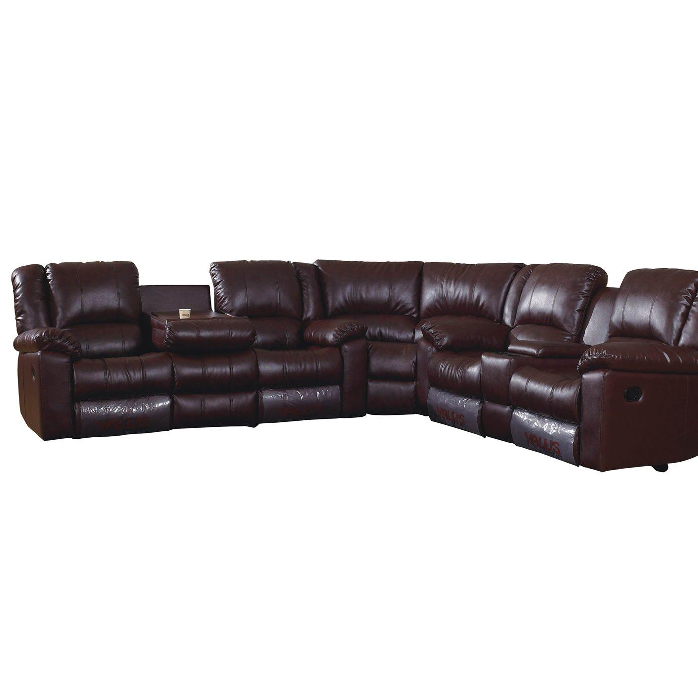 Overstock Living Room Chairs Wayside Sectional Reclining Sofa Set Free Shipping Today