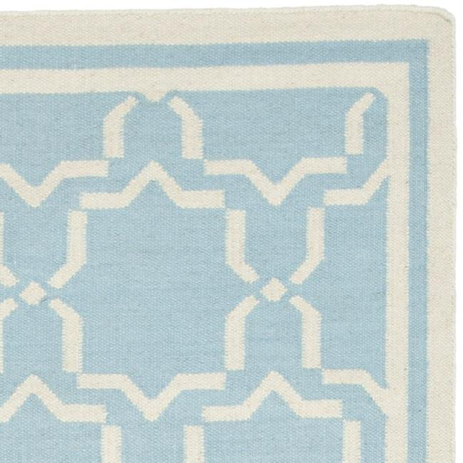 Safavieh Handwoven Moroccan Reversible Dhurrie Light Blue