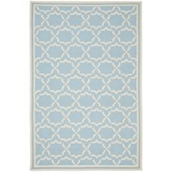 Safavieh Hand-woven Moroccan Reversible Dhurrie Light Blue/ Ivory Wool Rug (4' x 6')