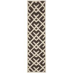 Safavieh Hand-woven Moroccan Reversible Dhurrie Chocolate/ Ivory Wool Rug (2'6 x 10')