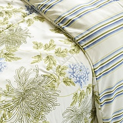 Water Flower Ivory 2-piece Twin-size Duvet Cover Set - Thumbnail 2