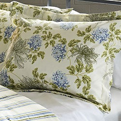 Water Flower Ivory 3-piece Full/ Queen-size Duvet Cover Set - Thumbnail 1