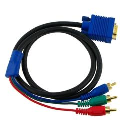 INSTEN 3-foot Black VGA to RGB 15-pin M/ M Component Cable