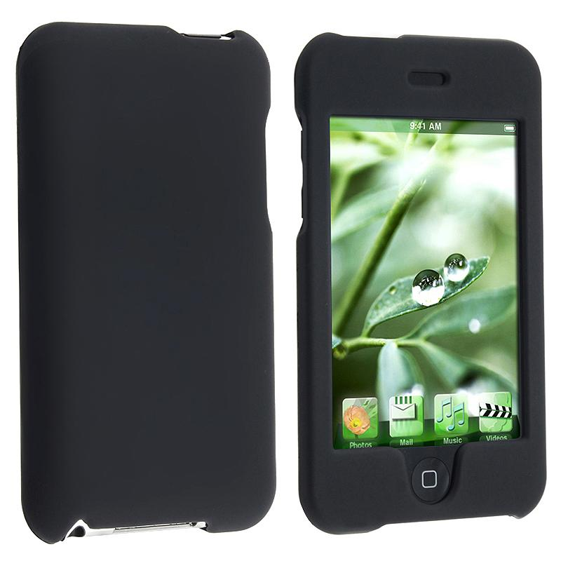 INSTEN Black Rubber Coated iPod Case Cover for Apple iPod touch 2nd/ 3rd Generation