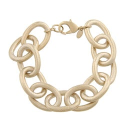 Rivka Friedman 18k Goldplated Satin Oval Link Rolo Bracelet