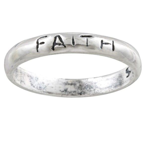 Silvermoon Sterling Silver 'Faith' Band