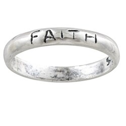 Silvermoon Sterling Silver 'Faith' Band