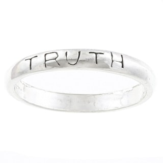 Silvermoon Sterling Silver Truth Band
