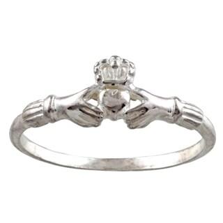 Silvermoon Sterling Silver Claddagh Ring|https://ak1.ostkcdn.com/images/products/6082086/P13753201.jpg?_ostk_perf_=percv&impolicy=medium