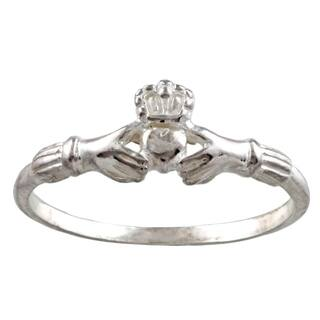 Silvermoon Sterling Silver Claddagh Ring|https://ak1.ostkcdn.com/images/products/6082086/P13753201.jpg?impolicy=medium