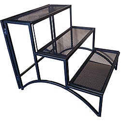 Folding Rectangle Three-layer Plant Stand