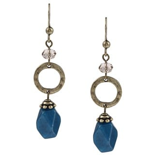 Alexa Starr Blue Jade Dangle Earrings