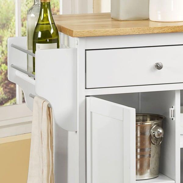 Maryland Wood Top Kitchen Cart