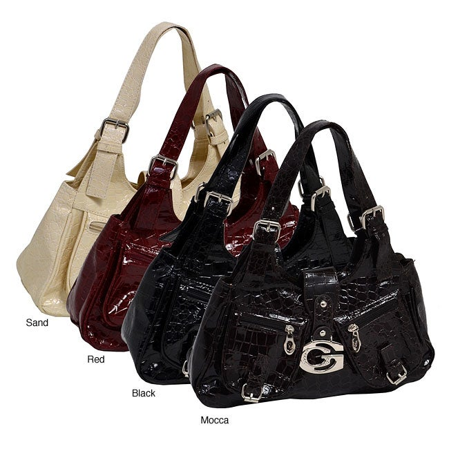 Parinda Kalei Haute Croco-embossed Faux-leather Small Tote Bag