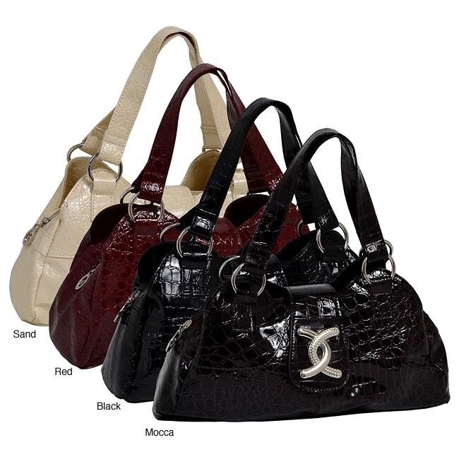 Parinda Women's Kaeya Croco Embossed Faux Leather Tote Bag