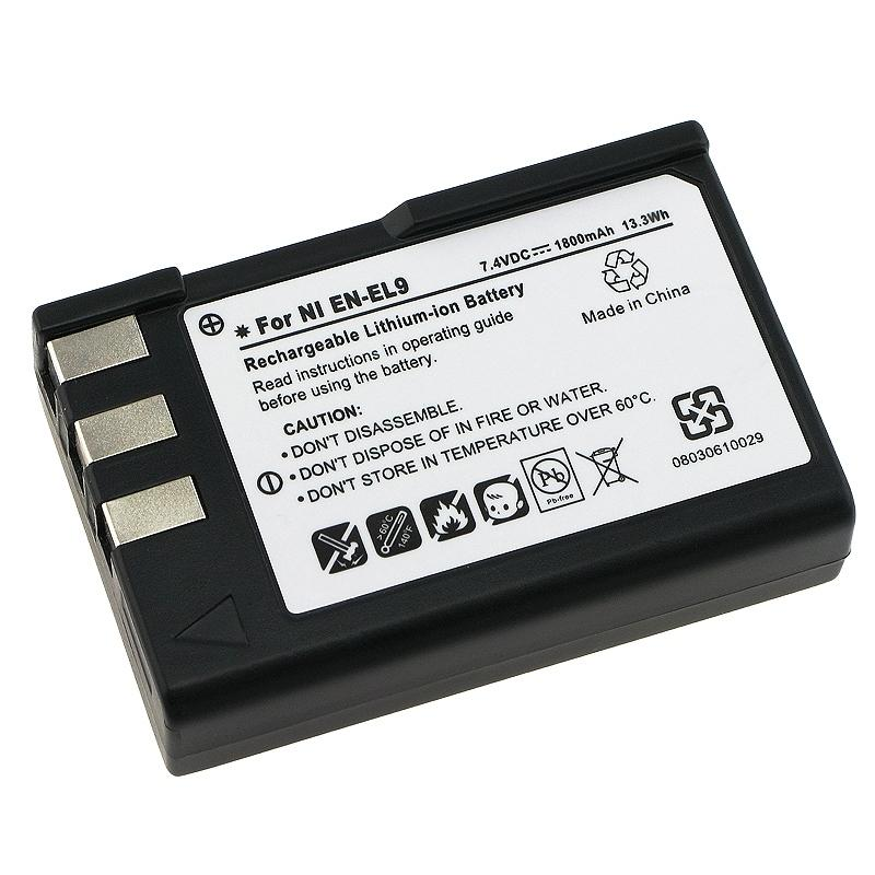 INSTEN Li-Ion Battery for Nikon EN-EL9/ D40/ D40X/ D60 (Pack of 2)