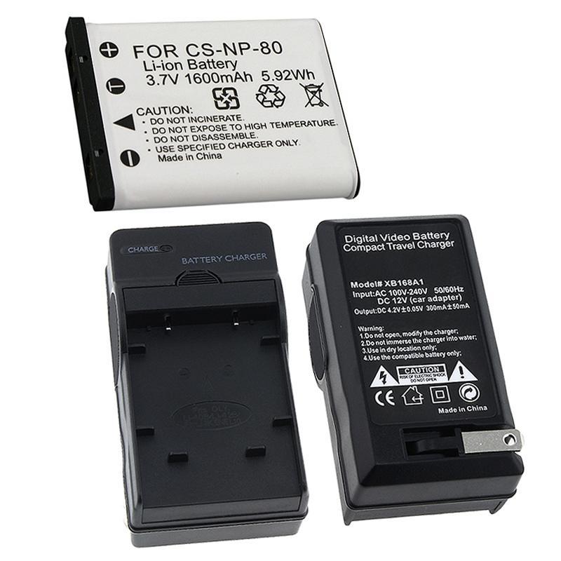 INSTEN Battery/ Charger Set for Casio Exilim NP-80/ EX-Z550/ EX-Z330 (Refurbished)