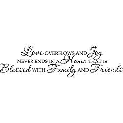 Design on Style 'Love Overflows And Joy Never Ends' Vinyl Art Quote