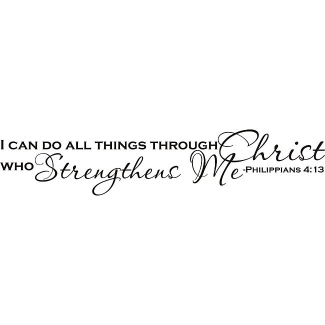 Design on Style 'I Can Do All Things Through Christ' Vinyl Art Quote