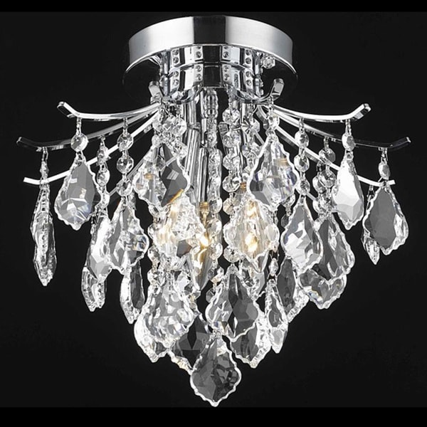 Somette Crystal Chrome 3-light 64979 Collection Chandelier