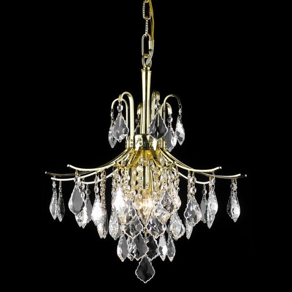 Somette Crystal Gold 3-light 64924 Collection Chandelier