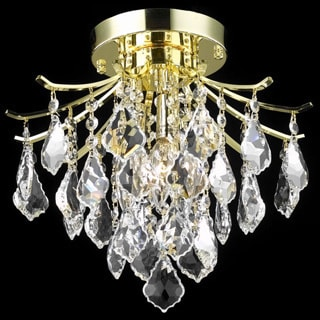 Somette Crystal Gold 3-light 64962 Collection Chandelier