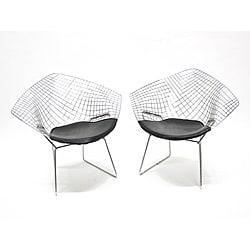 Wire Diamond Chairs (Set of 2) - Thumbnail 0