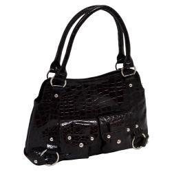 Parinda Jolan Croco Embossed Small Faux-leather Tote Handbag - Thumbnail 1