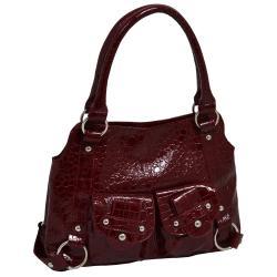 Parinda Jolan Croco Embossed Small Faux-leather Tote Handbag - Thumbnail 2