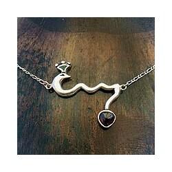 Sterling Silver 'Scorpio Bird' Garnet Necklace (Mexico)