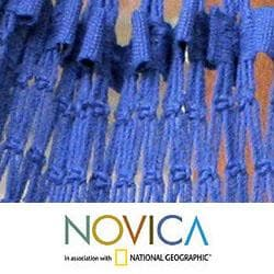 Cotton 'Ipanema Nocturnal' Hammock  , Handmade in Brazil - Thumbnail 2