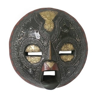Handmade Sign of Protection Sese Wood Mask (Ghana) - multi