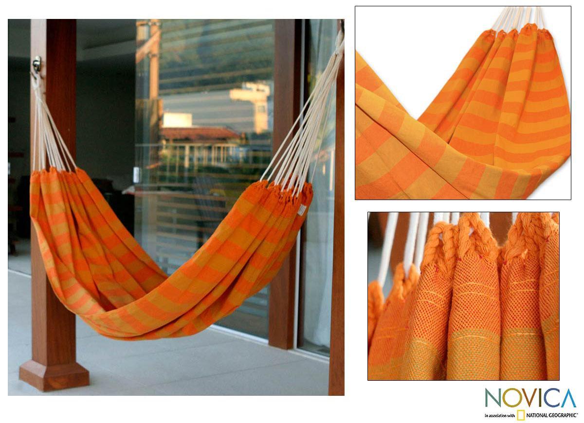Cotton 'Ceara Sunshine' Hammock  , Handmade in Brazil