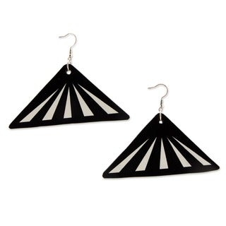 Recycled LP Vinyl Record 'Copacabana Melody' Dangle Earrings (Brazil)