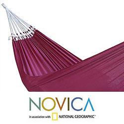 Cotton 'Ipanema Wine' Hammock (Brazil) - Thumbnail 1