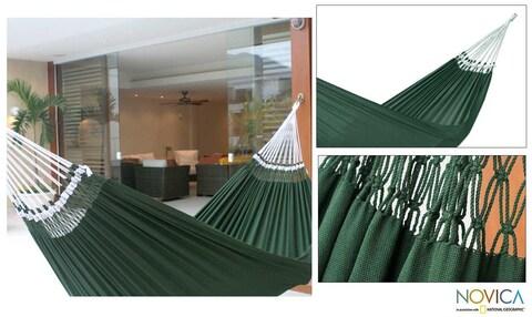 Handmade Cotton 'Ipanema Palm' Hammock (Brazil)
