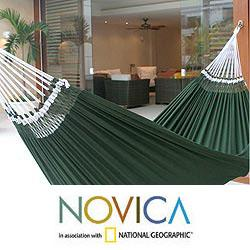 Cotton 'Ipanema Palm' Hammock (Brazil)