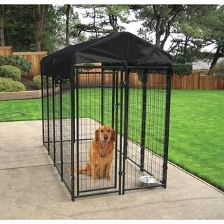 lucky dog black uptown welded wire dog kennel