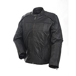 Mossi Men's 'Retro' Premium Leather Jacket - Thumbnail 0