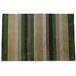 Jovi Home Tailored Transitional Multi Striped Hand-tufted Rug (4' x 6')