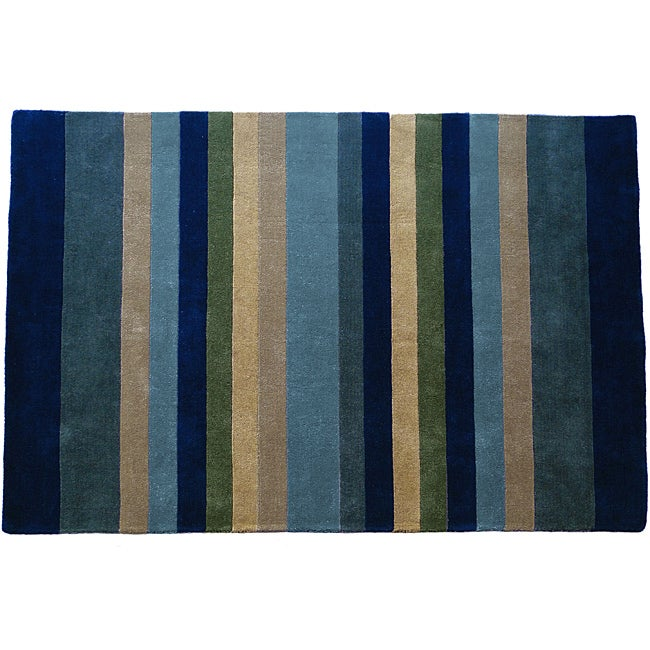 Jovi Home Tailored Multi-Stripe Hand-Tufted Area Rug (8'x11')
