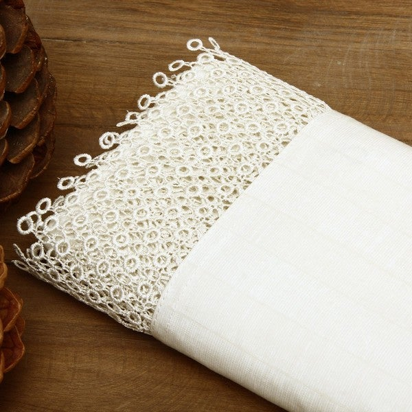Lawrence Home Fashions Anastasia Lace Sheet Set