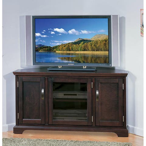 KD Furnishings Chocolate Bronze 46-inch Corner TV Stand & Media Console