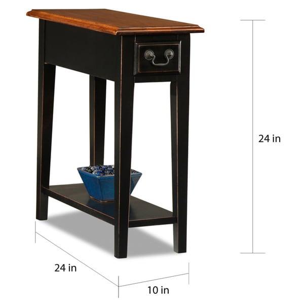 KD Furnishings Ash/Oak Veneers Chairside Table