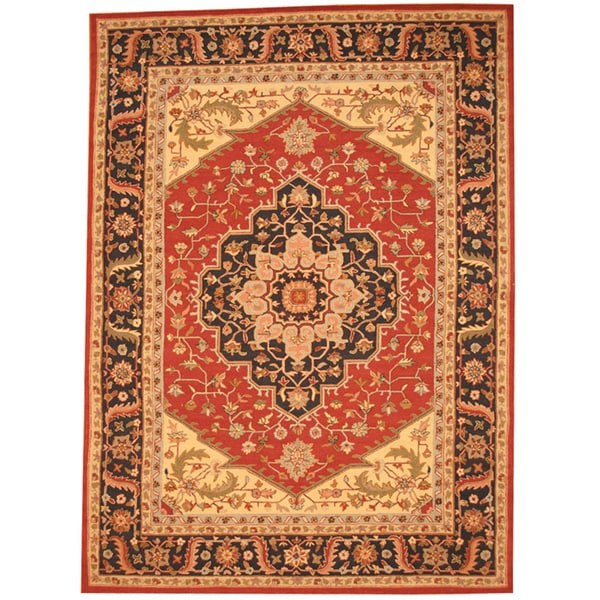 Herat Oriental Asian Hand-tufted Heriz Wool Rug (8' x 11')
