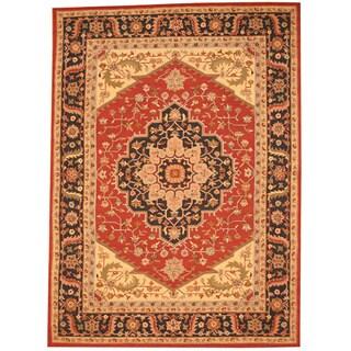 Handmade Herat Oriental Asian Heriz Wool Rug - 8' x 11' (China)